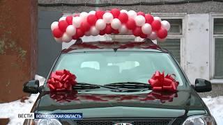 В Череповце детскому дому подарили новый автомобиль