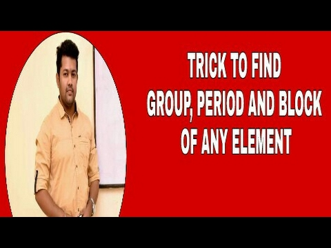 TRICK TO FIND BLOCK, PERIOD AND GROUP OF AN ELEMENT BY ELECTRONIC CONFIGURATION | BHARAT PANCHAL SIR