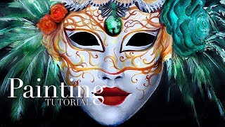 How to Paint a Venetian Carnival Mask | Acrylic Painting Tutorial