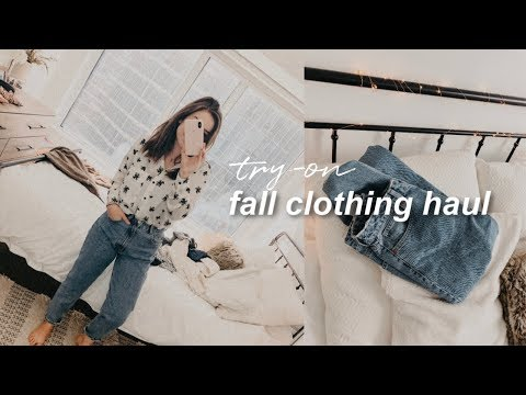 ☆ FALL CLOTHING HAUL | Zara, Shoes, Mom Jeans + Cozy Sweaters