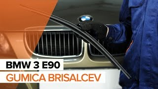 Kako zamenjatigumica sprednjih brisalcevnaBMW 3 E90 VODIČ | AUTODOC