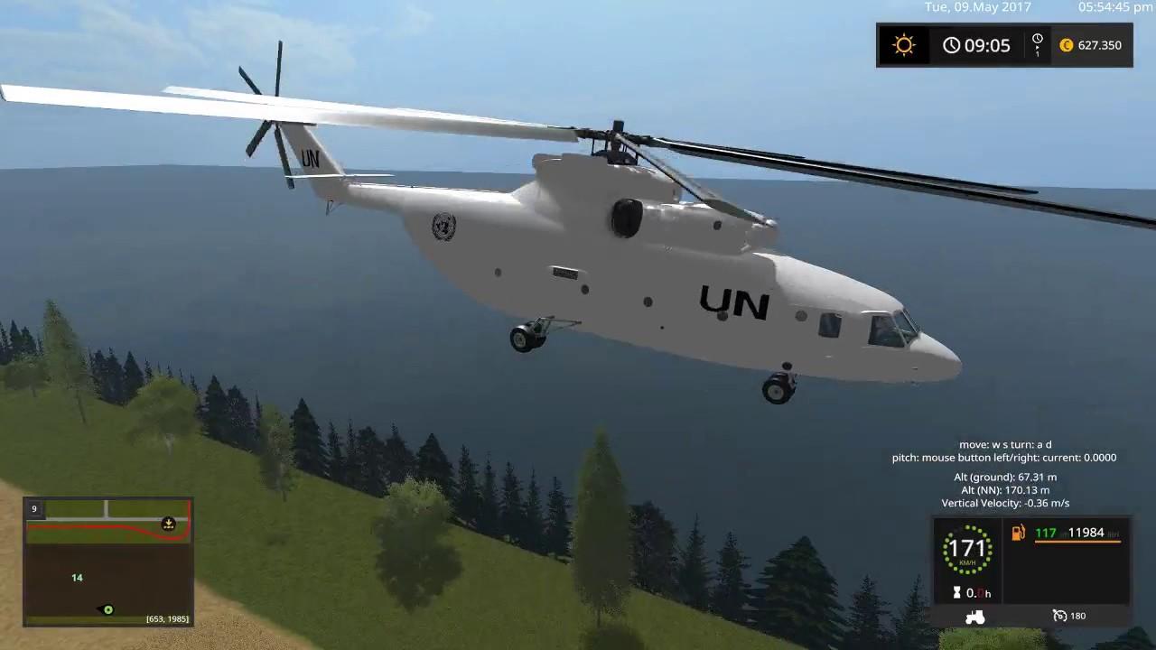 Elicottero 350 : Farming simulator 2017 1° video elicottero cargo mi 26 v 1.0