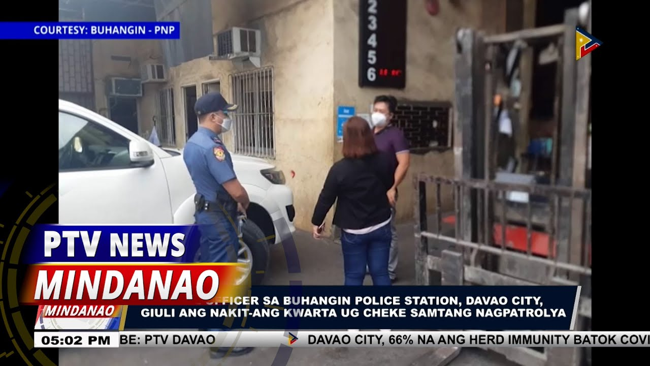 Download Police Officer sa Buhangin Police Station, giuli ang nakit-ang kwarta ug cheke samtang nagpatrolya