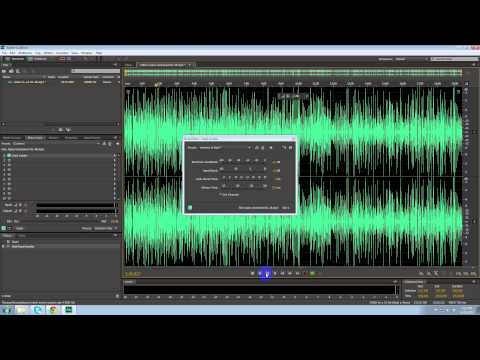 How to make a audio file louder using Adobe Audition CS6