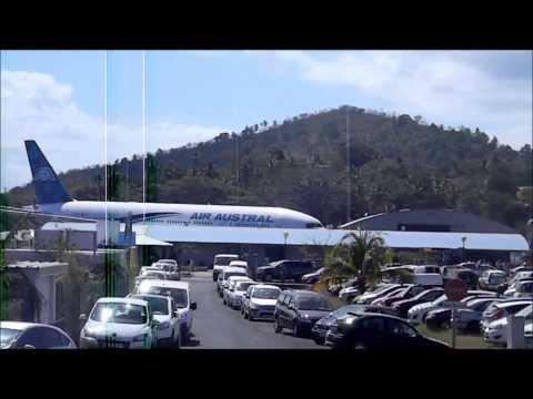 landing Air austral (b777/b738) at Pamandzi Mayotte