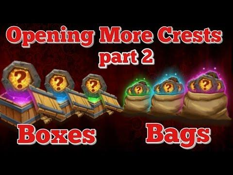 Castle Clash Opening More Crest Bags/Boxes!! Part 2!