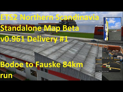 ETS2 Northern Scandinavia Standalone Map Beta v0.961 Delivery #1