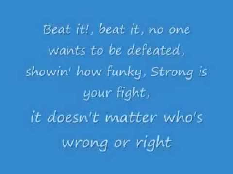 Michael Jackson Beat it (Lyrics)
