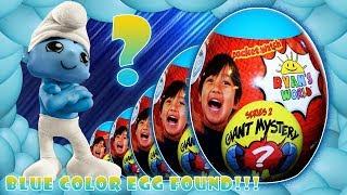 Ryan's World Giant Mystery Blue Egg:  Ryan Egg Blue Unboxing Toys Review