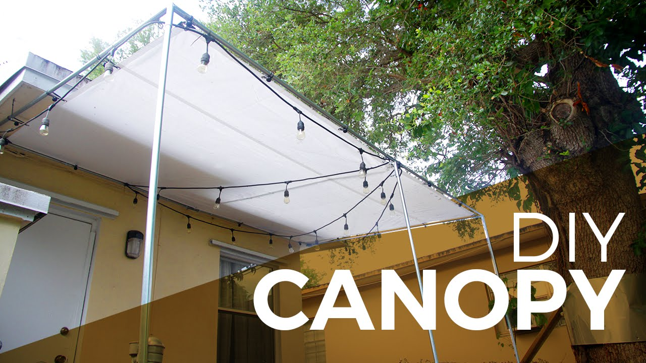 How to install a Canopy with Regular and Electrical Fittings - DIY : diy shade tent - memphite.com
