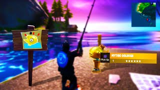 How to Find MYTHIC GOLD FISH in Fortnite! (3 STEPS)