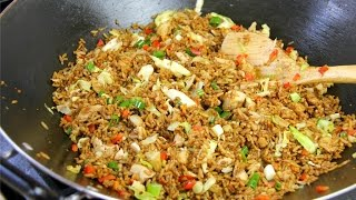 5 Minute Jerk Chicken Fried Rice - Chris De La Rosa | CaribbeanPot.com