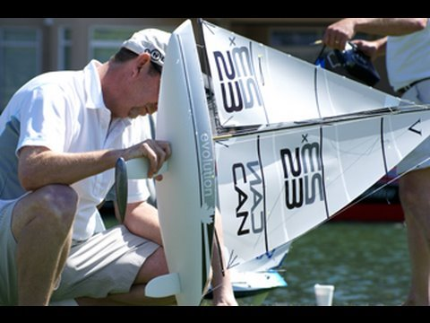 RC model sailboat racing