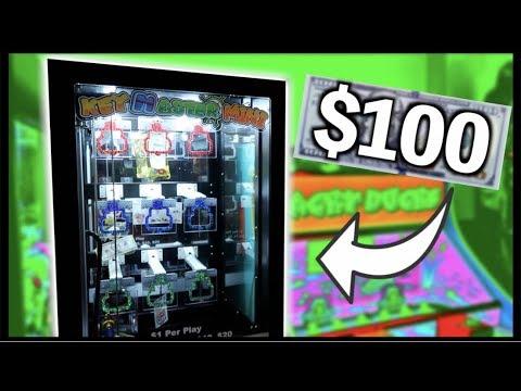 ★WON $100 CASH From Claw Kicker's KeyMaster Arcade Game!!!