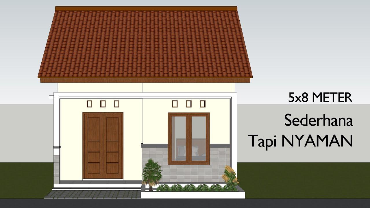 Desain Rumah Sederhana Di Lahan 5x8 Meter 2 Kamar Tidur - YouTube