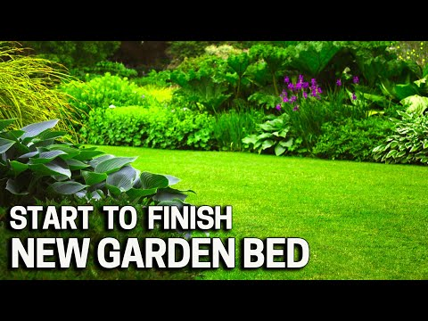 Start To Finish Garden Bed Project With Just A Shovel Youtube