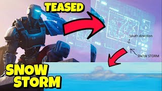 A.I.M SKIN TEASES SNOW STORM COMING CLOSER IN FORTNITE