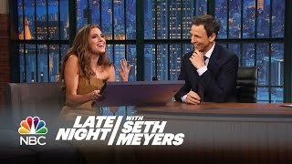 Allison Williams Reads a Letter She Wrote to R.L. Stine in 1996 - Late Night with Seth Meyers