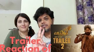 #KGF Official Trailer 2 Kannada FOREIGNE REACTION| North Indian react to kgf trailer 2| ???? DIALOGS |