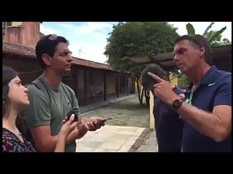 JAIR BOLSONARO FALA TUDO NA CARA DOS JORNALISTAS DA FOLHA DE SÃO PAULO
