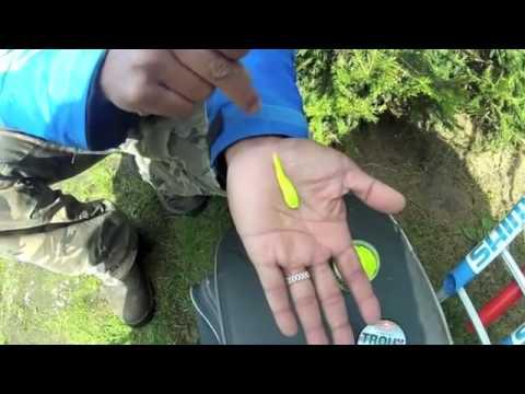ловля форели на пасту поплавочной удочкой