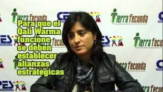 """Iris Camacho """"Para que el Qali Warma funcione se deben establecer alianzas estratégicas"""""""