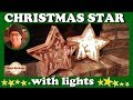 Making a christmas star with lights | Scroll saw project | Woodwork christmas ornaments