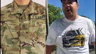 Mặc áo lính ra đường, một ông cụ Á Châu bị một ông Mỹ xỉ vả