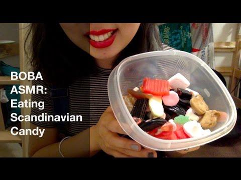 ASMR Eating Scandinavian Candy