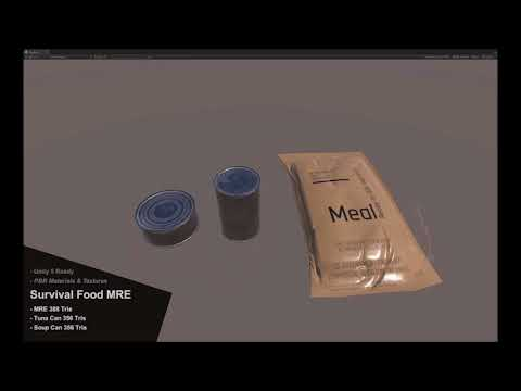 Survival Food MRE Demo Video For Unity Asset Store