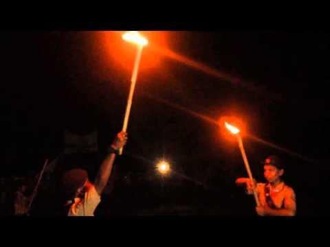 Upacara Malam Api Unggun Jambore Cabang Gianyar Tahun 2015