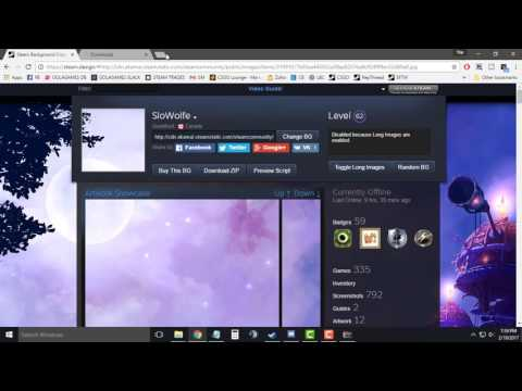 How To: Make Long Artwork Showcase In Your Steam Profile