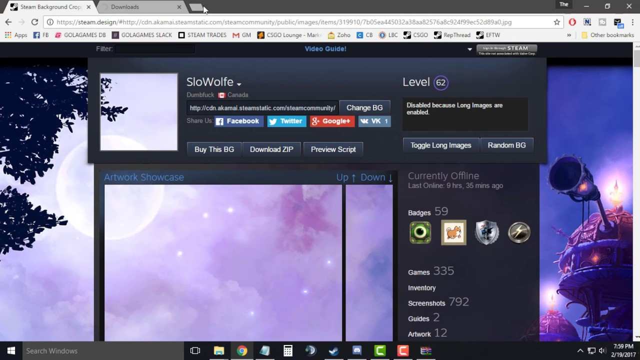 How To Make Long Artwork Showcase In Your Steam Profile Youtube