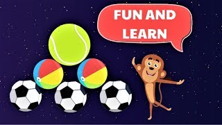 Enjoy colors for kids with Surprise Toys dancing cartoon monkey balloons | JOY A LEARNING KID