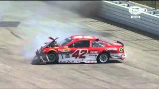 Choques de Kyle Larson y Danica Patrick en Fontana - NASCAR Sprint Cup Series 2016