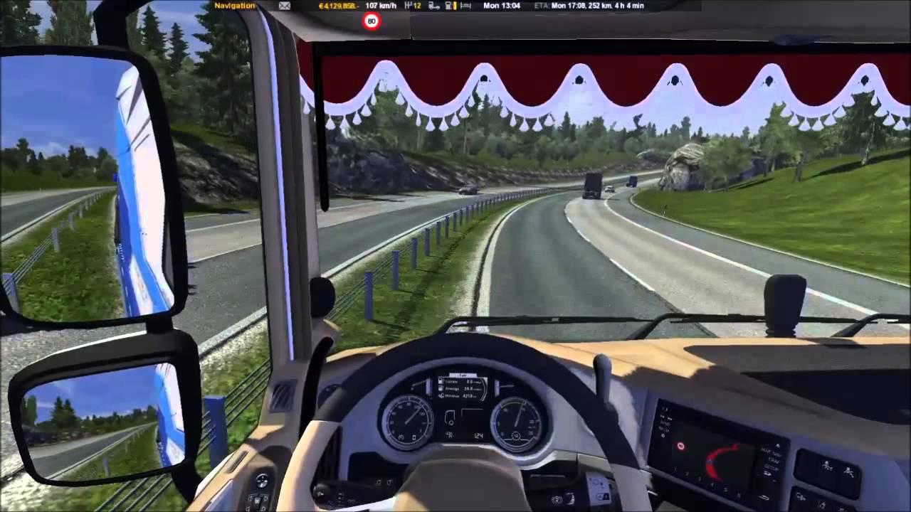 euro truck simulator 2 daf xf euro 6 tuning mod youtube. Black Bedroom Furniture Sets. Home Design Ideas