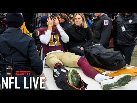 Alex Smith's career in question after contracting infection from surgery on broken leg l NFL Live