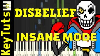 Learn to Play the Disbelief OST by FlamesAtGames (Undertale AU) - Insane Mode