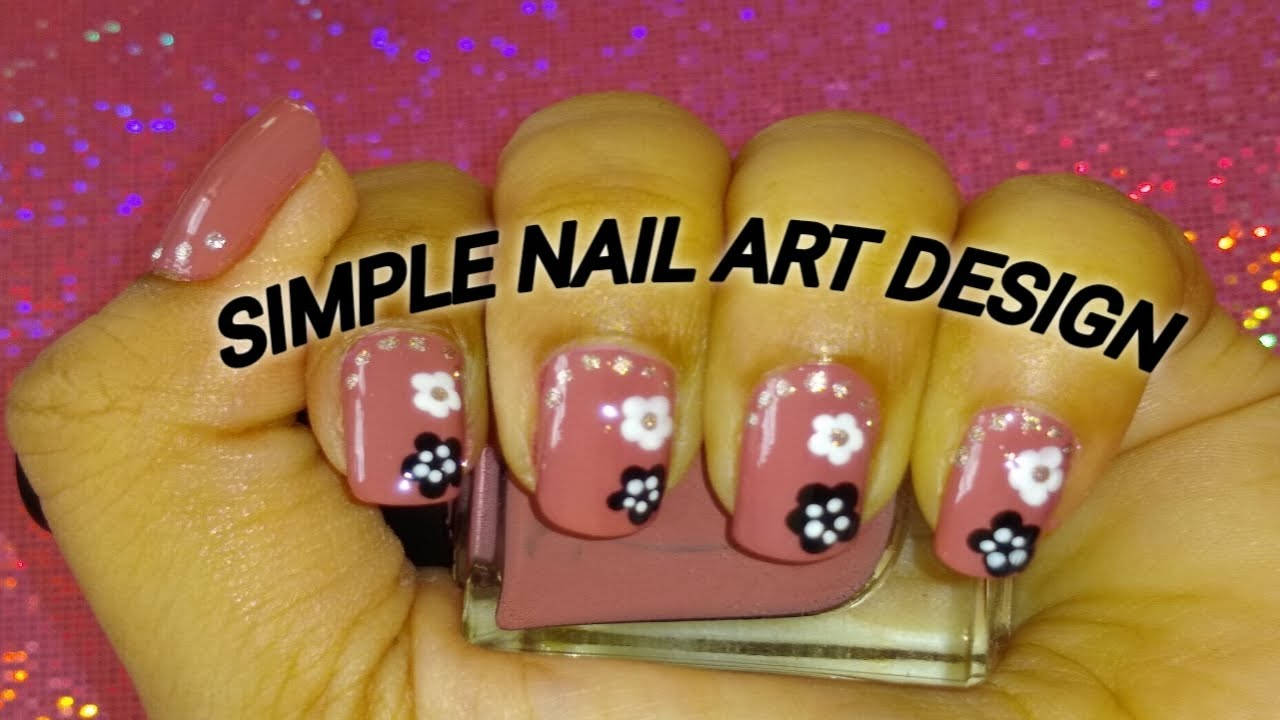 SIMPLE NAIL ART DESIGN AT HOME