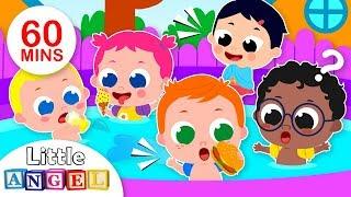 5 Little Babies Swimming in the Pool | Kids Songs & Nursery Rhymes by Little Angel