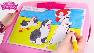 Disney Princess 5 in 1 Easel Paint * Color * Draw Ariel, Rapunzel, Belle(Activity Easel with 50+ accessories! This Disney Princess easel lets you paint, color, draw and has magnetic attachments. Our official pages!, 2016-03-09T23:17:01.000Z)