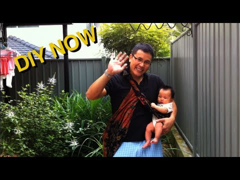How To Carry A Baby Using A Sarong Diy Now Youtube