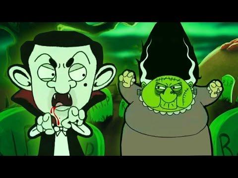Mr Bean Halloween Specials!  Best New Spooky 2016 Cartoon Collection