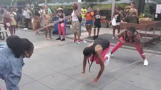 Black Girls jump @Silver Room Block Party