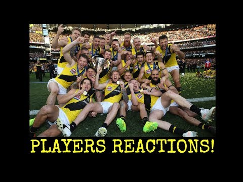 2017 AFL Grand Final - Richmond Players Reactions