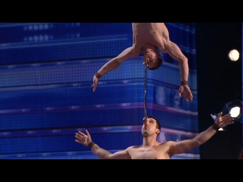 America's Got Talent 2015 S10E03 Duo Vladimir Amazing Dangerous Strength & Balancing Act