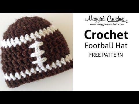 Football Hat Free Crochet Pattern Right Handed Youtube