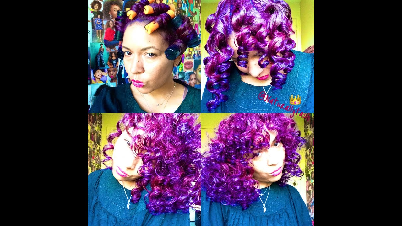 Color Natural Hair Purple