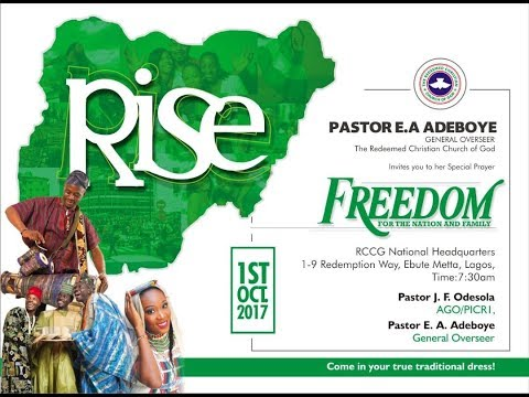 OCTOBER 2017 RCCG HEADQUARTERS THANKSGIVING SERVICE