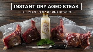 Instant DRY AGE STEAK Experiment!